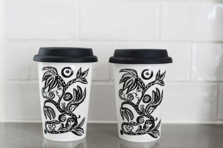 Kosta Linnewäfveri Keramikmuggar 2-pack Paradise