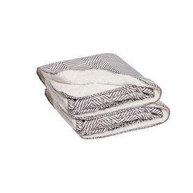 Kosta Linnewäfveri Sherpapläd Jannike 2-pack, grå