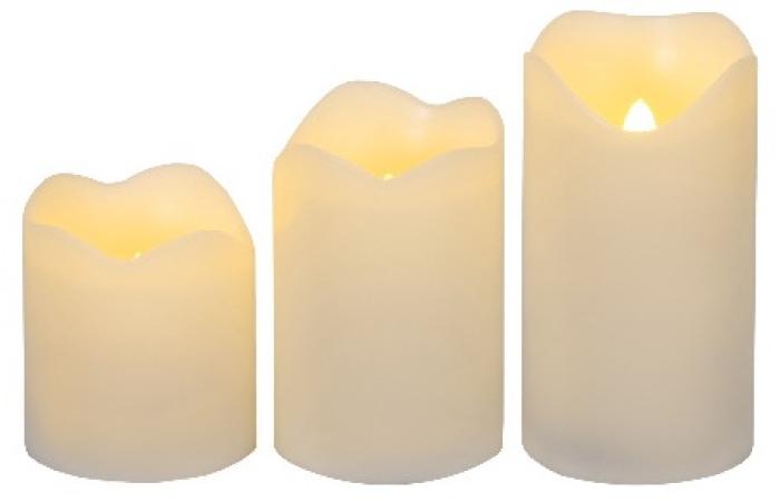 Star Trading LED plastljus i tre storlekar