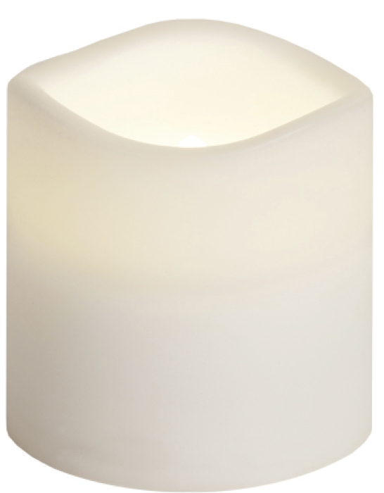 Star Trading Paul plastic candle with timer, flickering LED