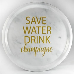 Mellow Design Bricka Champagne Marmor