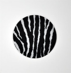 Mellow Design Glasunderlägg Zebra 4-pack