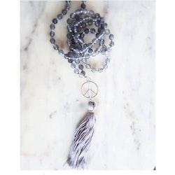Halsband Mala för meditation, handknutet