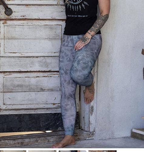Yoga leggings Grey Leopard