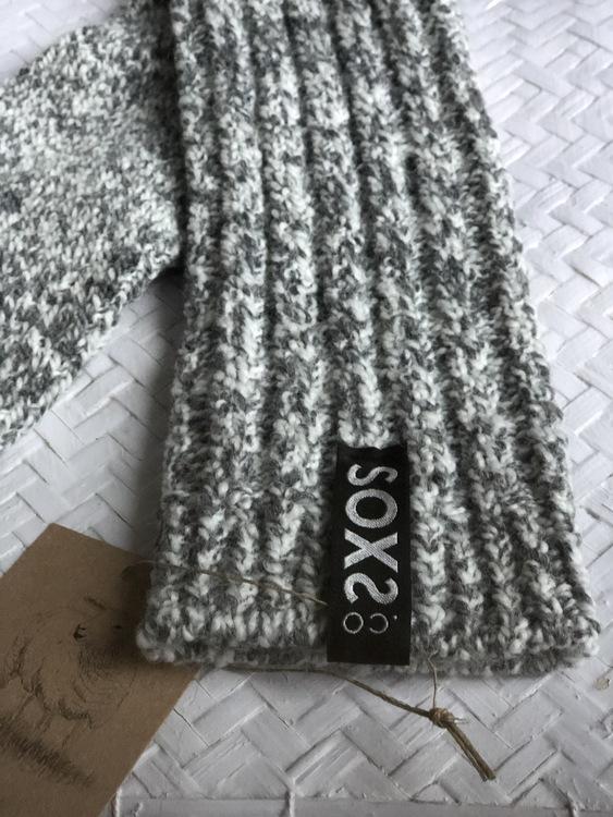 Soxs Hög Raggsocka mörk grå 3 storlekar