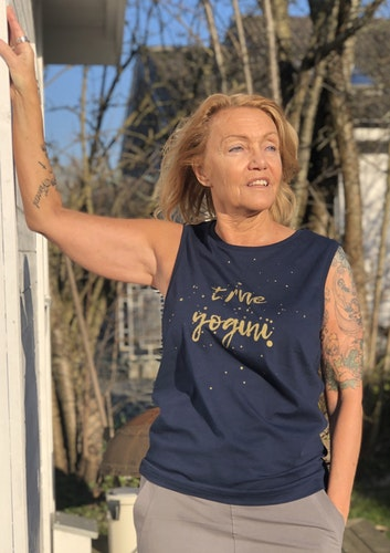 Enso tribe TRUE YOGINI - MUSCLE TANK - NAVY