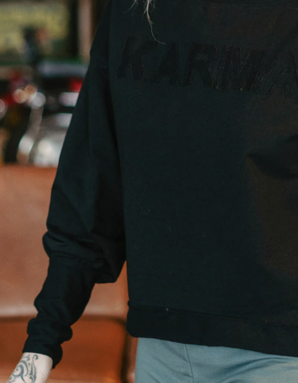 Sweater KARMA puffärm - Yogia
