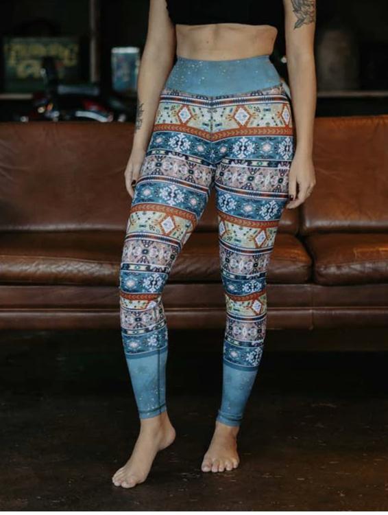 Tribe vibe yoga leggings - Yogia
