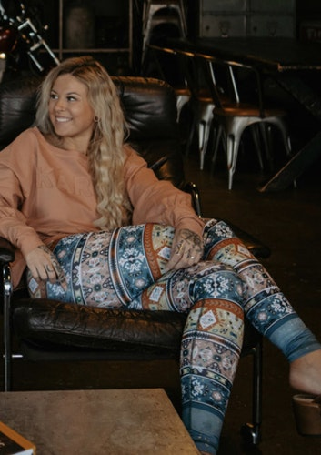 Tribe vibe yoga leggings - Yogia