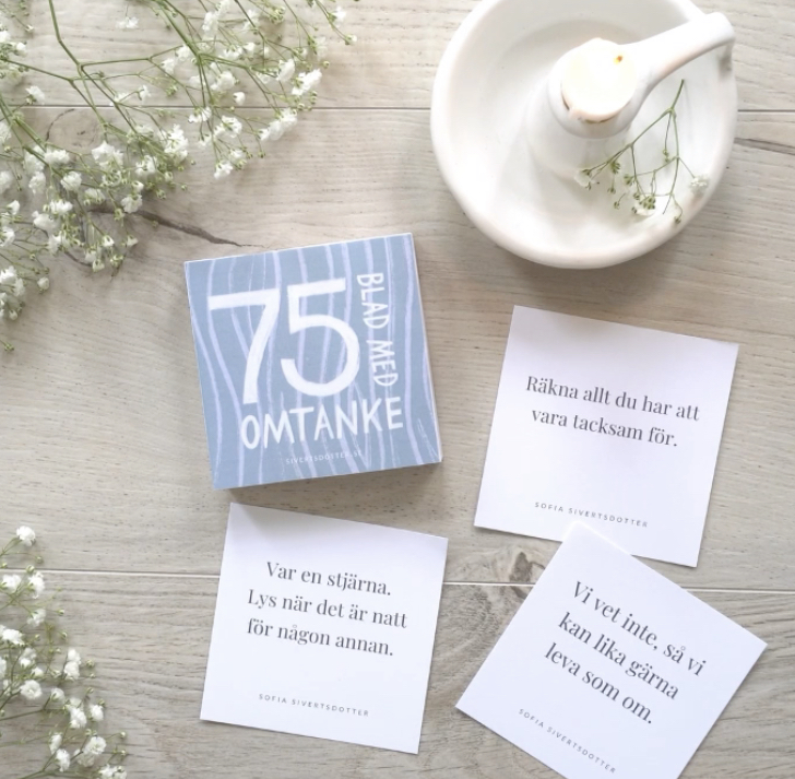 75 blad med omtanke