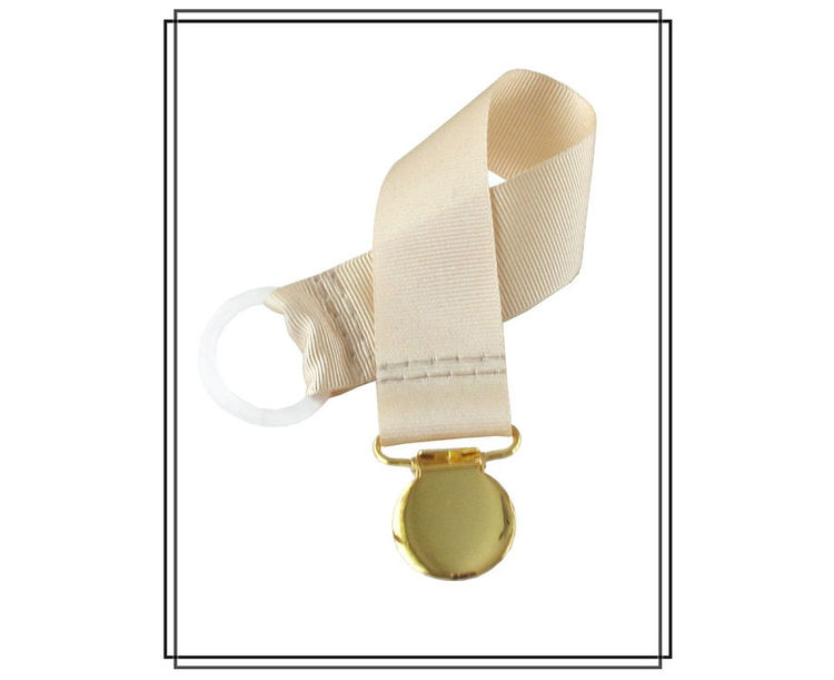 Beige napphållare - guld