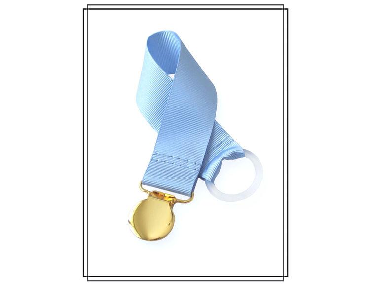 Ljusblå napphållare - guld