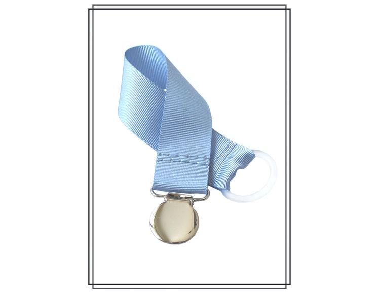 Ljusblå napphållare - silver