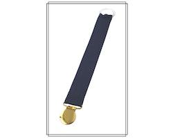 Marinblå napphållare - guld