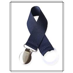 Marinblå napphållare - silver
