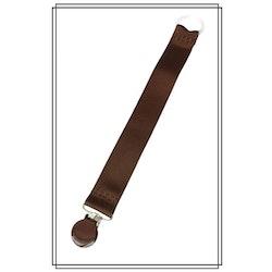 Brun napphållare - brunt clip