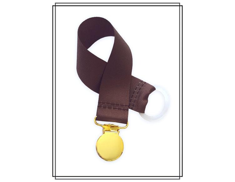 Brun napphållare - guld