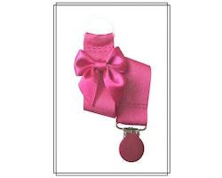 Cerise napphållare med rosett