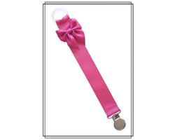 Cerise napphållare med rosett - silver
