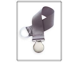 Grå napphållare - silver