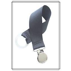 Mörkgrå napphållare - silver