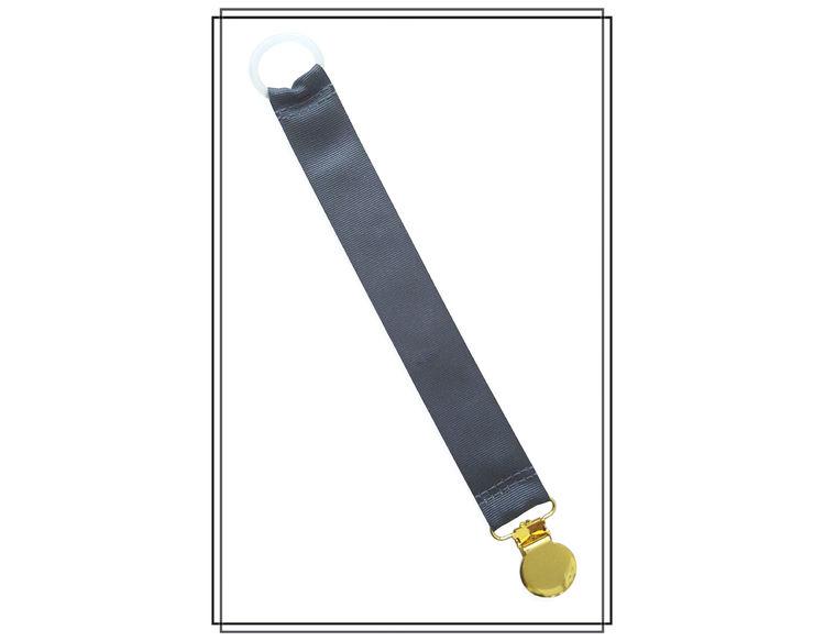 Mörkgrå napphållare - guld