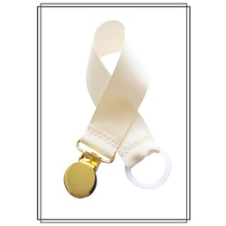 Gräddvit napphållare - guld
