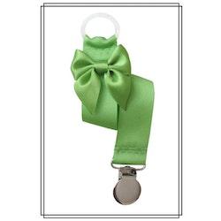 Grön napphållare med rosett - silver