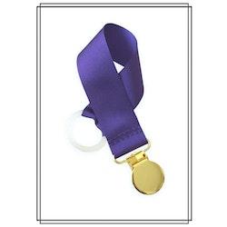 Lila napphållare - guld
