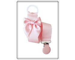 Ljusrosa napphållare med blekrosa rosett
