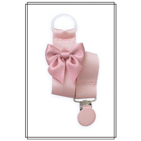 Ljusrosa napphållare med gammelrosa rosett