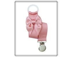 Gammelrosa napphållare med rosett - silver
