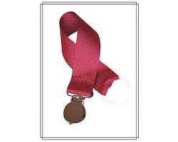 Vinröd napphållare - silver