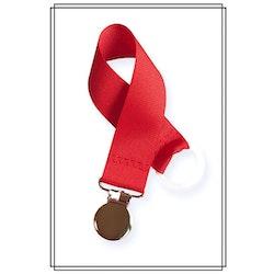 Röd napphållare - silver