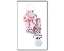 Napphållare med körsbärsblom och blekrosa rosett