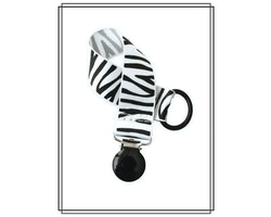 Napphållare zebra - svart clip