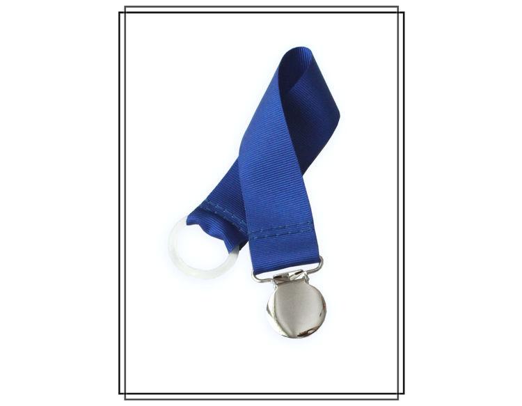 Blå napphållare - silver