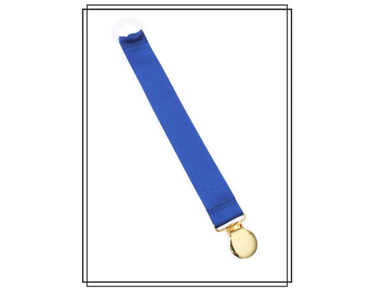 Blå napphållare - guld