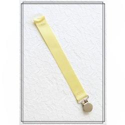 Ljusgul napphållare - silver