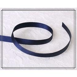 Satinband MARINBLÅ - 1 cm brett