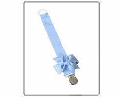 Ljusblå napphållare med rips-rosett