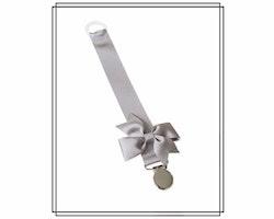 Grå napphållare med rips-rosett