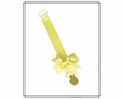 Ljusgul napphållare med rips-rosett