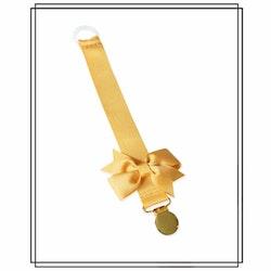 Guldfärgad napphållare med rips-rosett