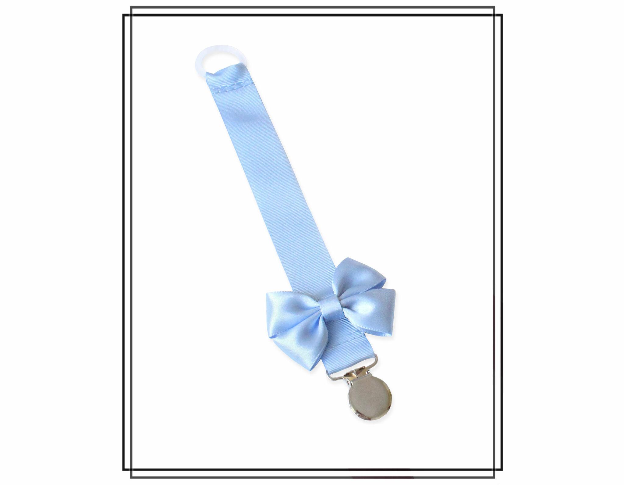 Ljusblå napphållare med Vera-rosett
