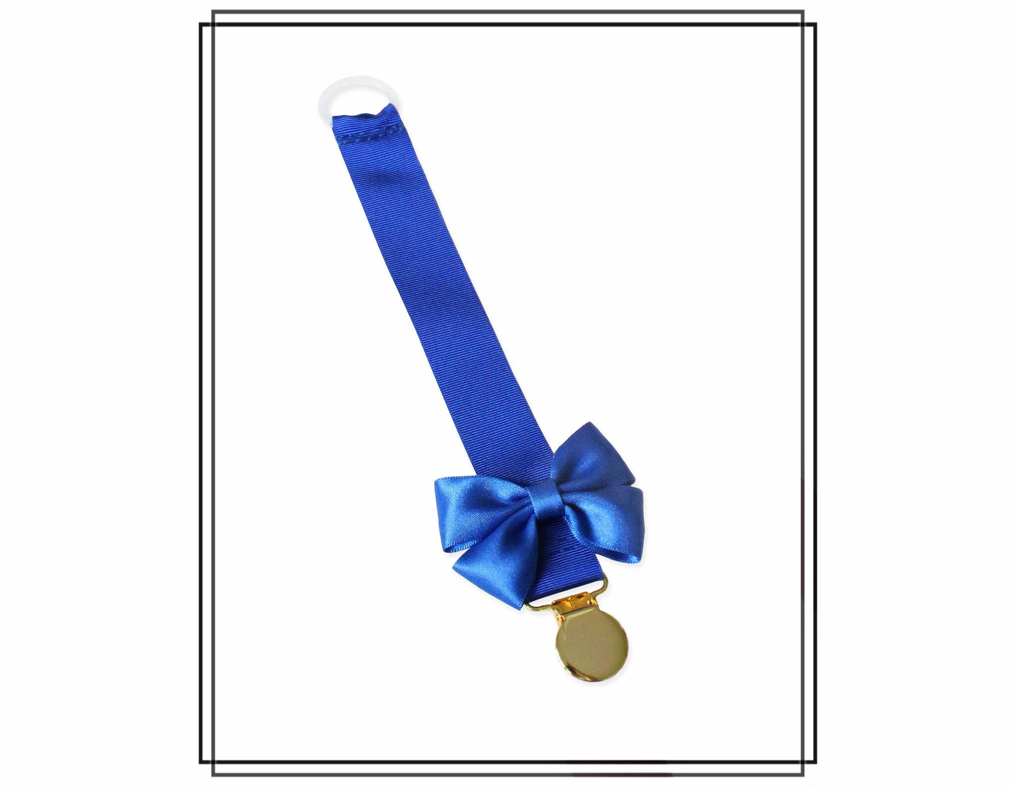 Blå napphållare med Vera-rosett