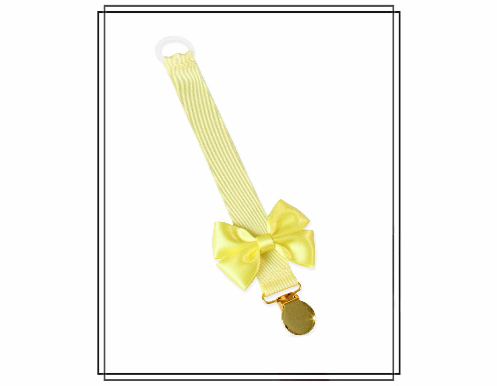 Ljusgul napphållare med citrongul rosett