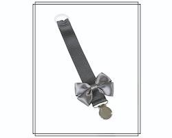 Mörkgrå napphållare med rosett