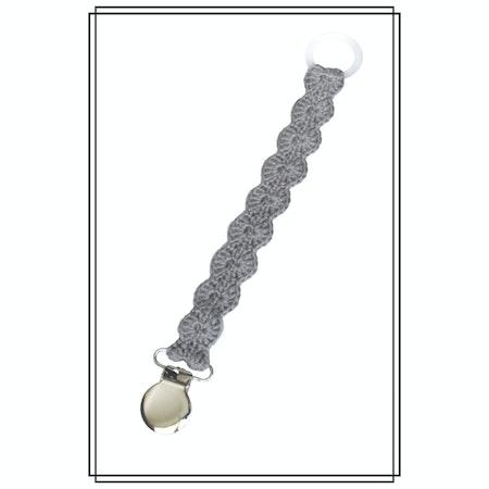 Napphållare vågigt virkad grå - silver