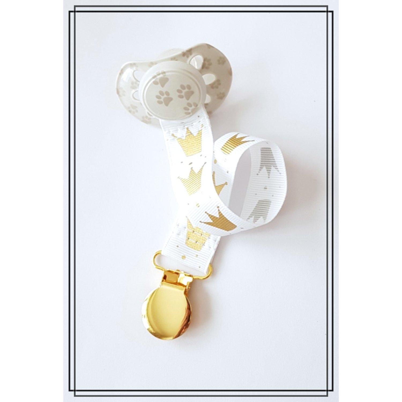 Napphållare med guldkronor - guld
